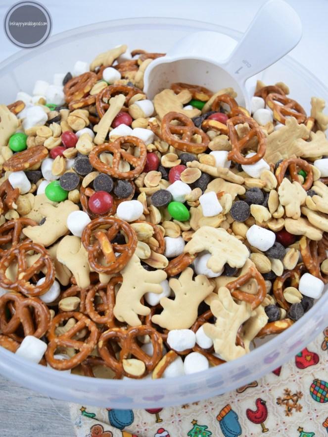 large batch holiday snack mix