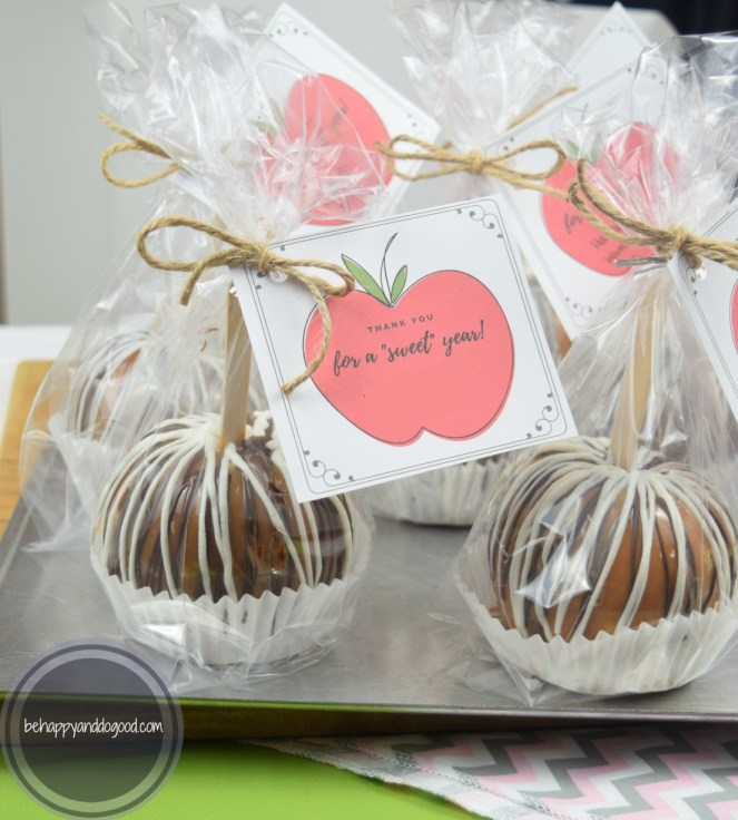 Caramel Apples Teacher Appreciation Gift With Free Tag Printable