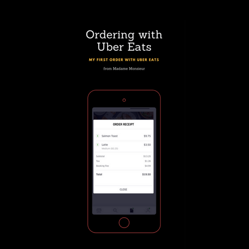 My first UberEats order – delivery from Madam Monsieur