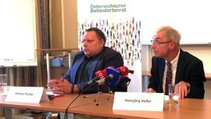 Pressekonferenz von Behindertenanwaltschaft und Österreichischem Behindertenrat