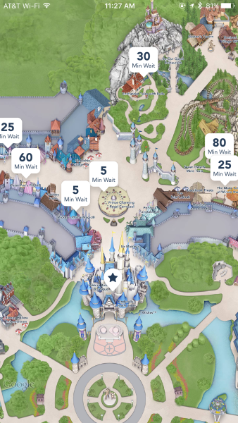 Magic Kingdom App View