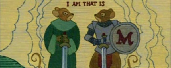 Matthias and Martin the Warrior on the Redwall tapestry.