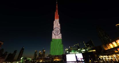 Indian Flag lights up in Burj Khalifa | UAE