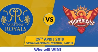 Rajasthan Royals vs Sunrisers Hyderabad | 28th Match | Dream11 Team 46 Behind History