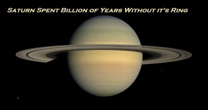 Saturn Spent Billion of Years Without it's Ring 14 Behind History