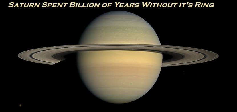 Saturn Spent Billion of Years Without it's Ring 1 Behind History