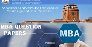 Quantitatie and Research Methods in Business MBA Question Paper University of Madras Distance Education 2 Behind History