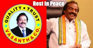 Vasanth & Co Founder and MP H. Vasanthkumar Deceased