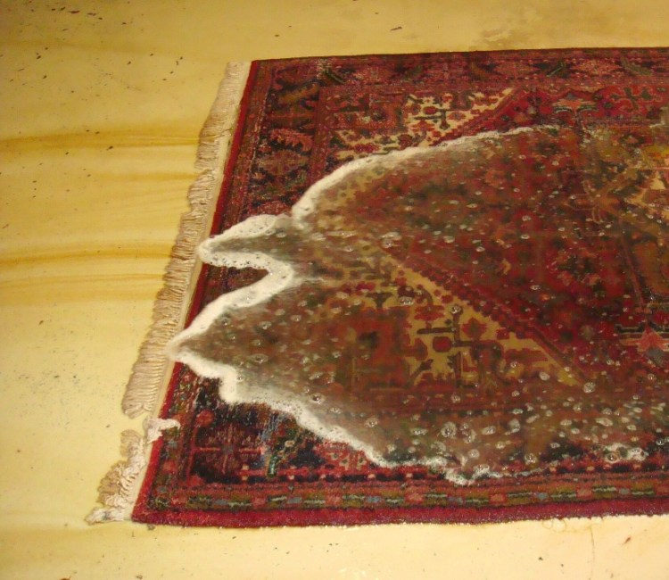 weather damaged rug