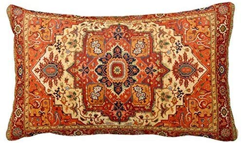 Rug made into a pillow
