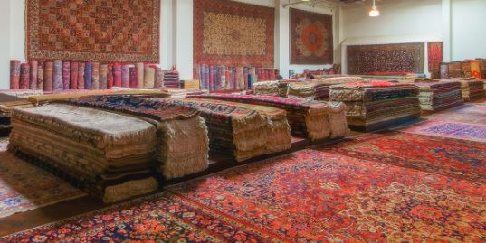 Rugs in our showroom