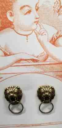 Lion Door Knocker Earrings Behold Jewelry Designs West Hartford Ct