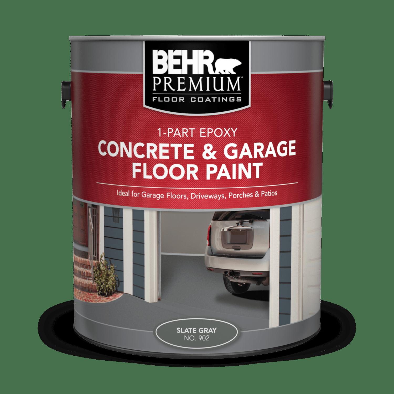 1 part epoxy concrete garage floor