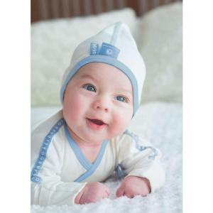 Köpa söta och ekologiska babykläder på nätet på beibamboo.com/sweden. blå, baby mössa