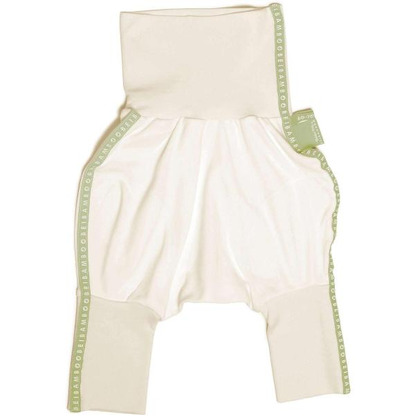 green seamless baby trousers from hypoallergenic material
