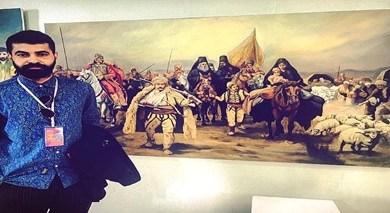 """صورة الفنان التشكيلي """"جوتيار نذير"""" و الفن المعاصر"""