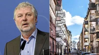 """صورة وزير الإسكان السويدي """"يجب بناء مساكن للجميع"""""""