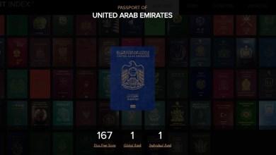 صورة الجواز الاماراتي في المرتبة الاولئ عالميا