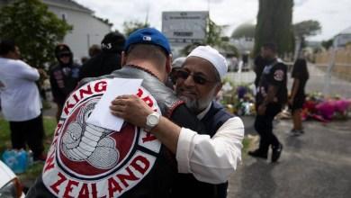 """صورة نيوزيلندا: أفراد عصابة """"مونغريل موب"""" النيوزلدية يتعهدون للمسلمين"""