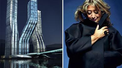 صورة فتتاح فندق فخم في دبي من تصميم زها حديد