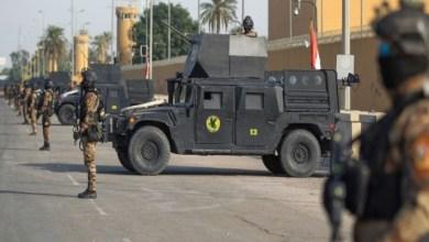 صورة انفجارين في العاصمة بغداد .