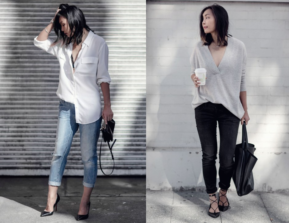 How to wear skinny jeans and boyfriend jeans