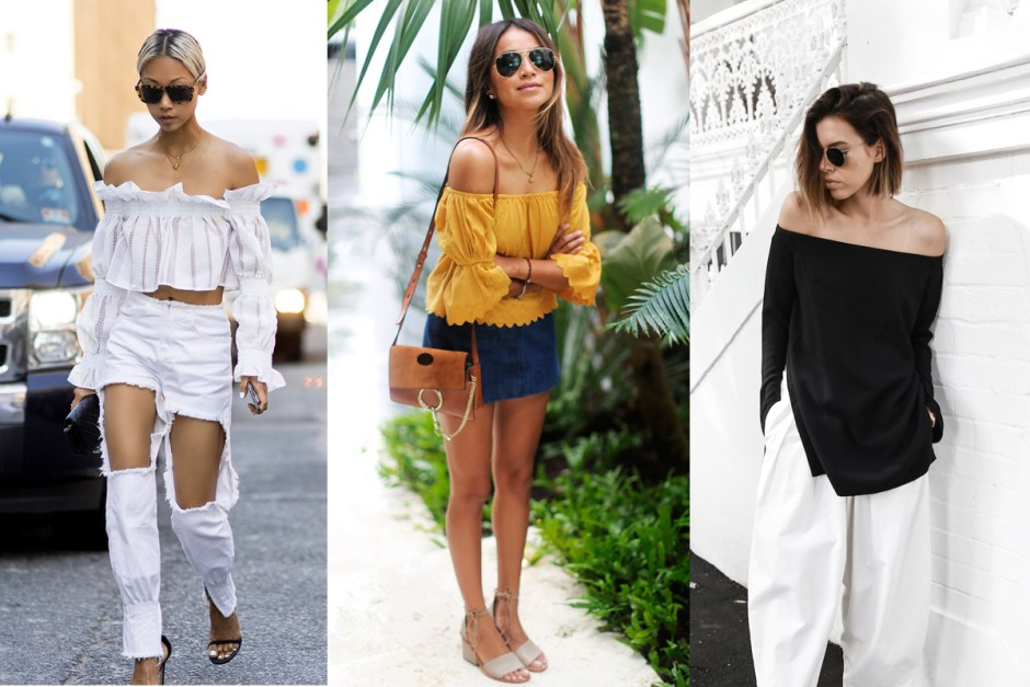 Off shoulder top blogger