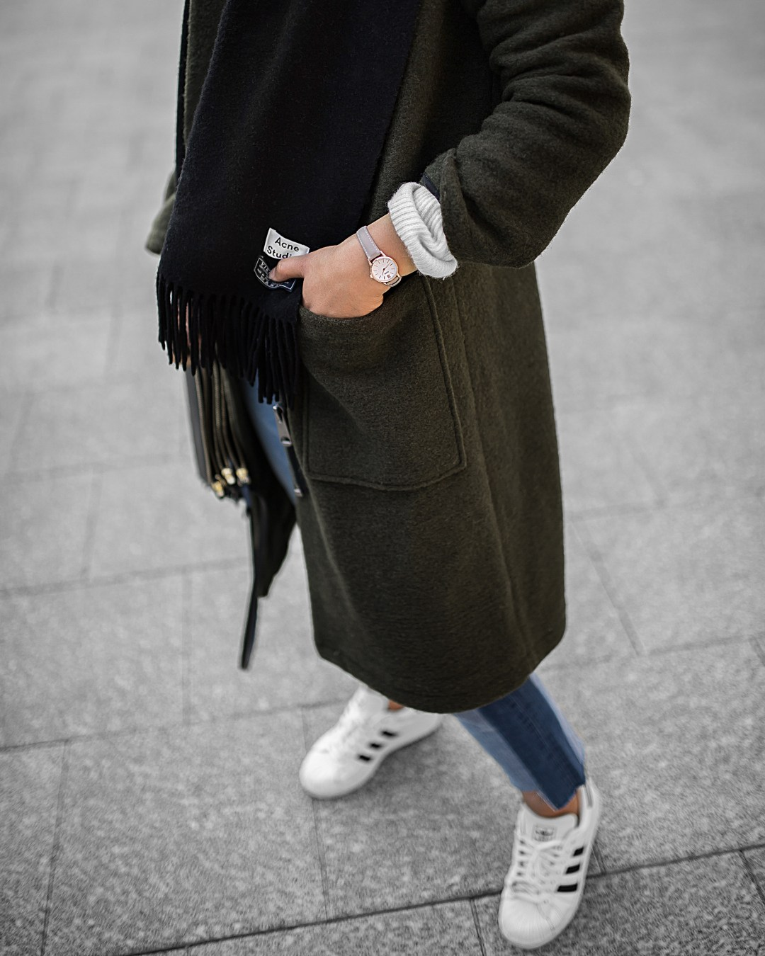 acne-scarf-khaki-coat-stepped-hem-jeans-outfit-inspiration-6-copy