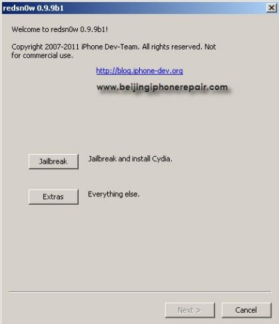 Download Redsn0w 0 9 9b1 to Jailbreak iPhone, iPad and iPod