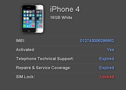 Free iPhone Lock Unlocked SIM Lock Status Checker