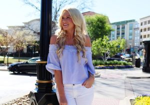 White Jeans & Off The Shoulder