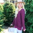 Grace & Lace Berry Sweater
