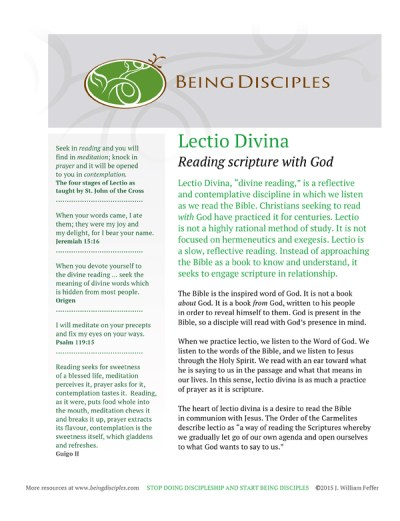 Click on images to download the Lectio Divina Guide