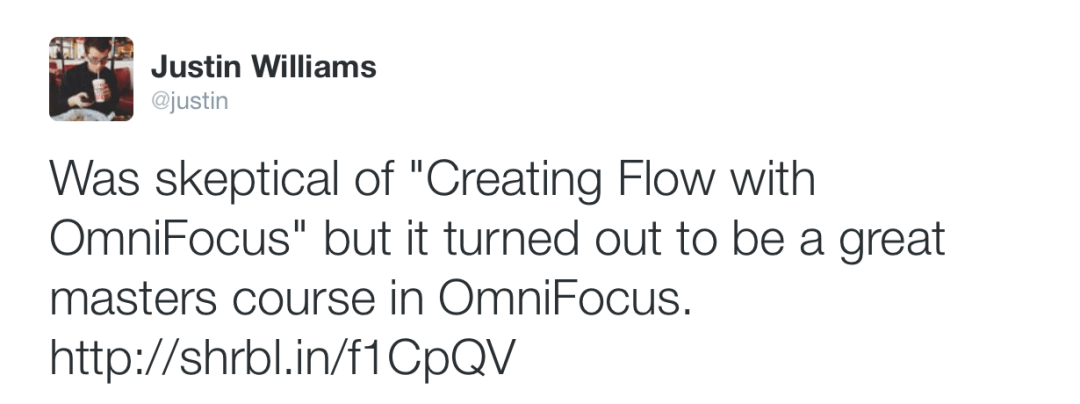 Was skeptical of Creating Flow with OmniFocus but it turned out to be a great masters course in OmniFocus.