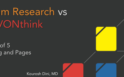 Roam Research vs DEVONthink – Part 3 of 5 – Writing and Pages
