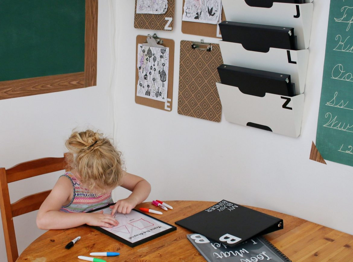 EASY PERSONALIZED LEARNING CORNER FOR NOT-SO BACK TO SCHOOL (USING THE CRICUT JOY!)