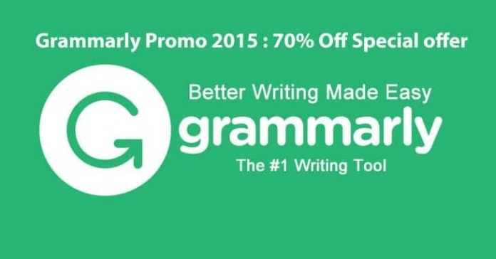 Grammarly Promo 2015 : 70% Off Special offer