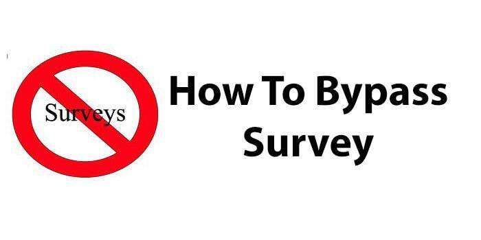 How To Bypass Survey – 2017