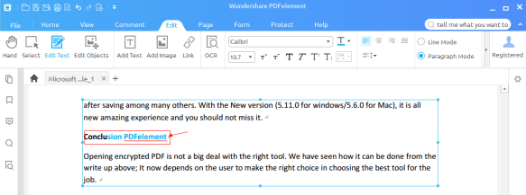 Edit PDF Using Wondershare PDFelement