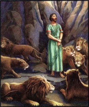 6. Daniel in the pit of lions