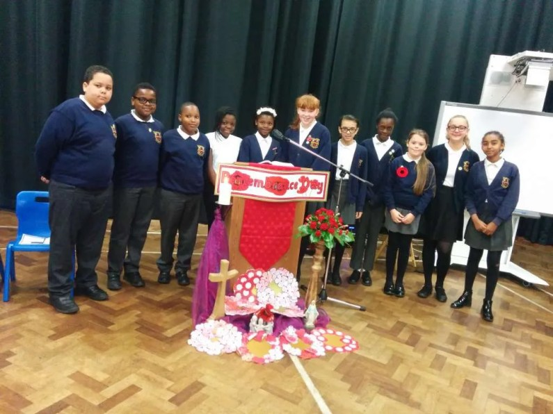 The Chaplaincy team lead a special Remembrance day liturgy