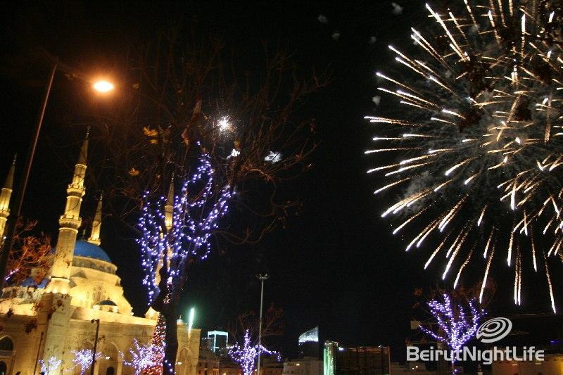 NYE 2010 @ Beirut Martyrs Square