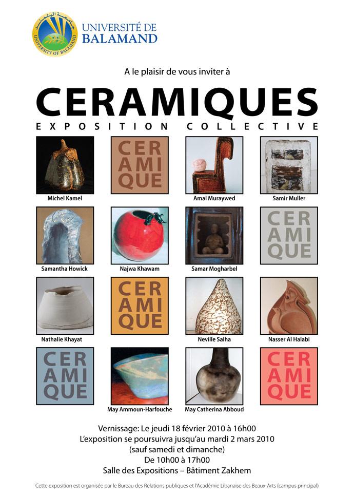 Ceramiques Exposition Collective@ Balamand