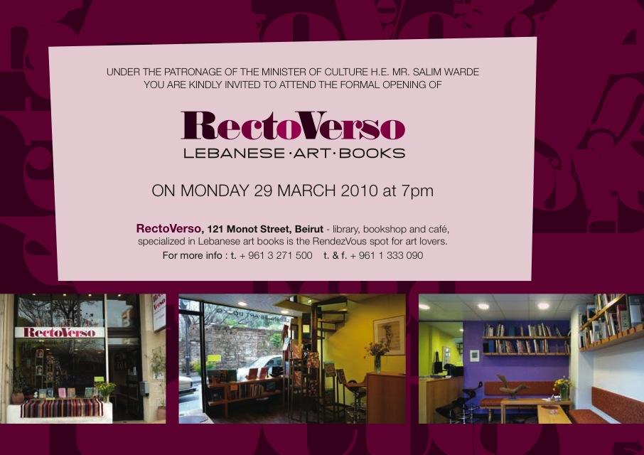 Recto Verso- Lebanese. Art. Books