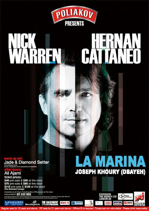 "ALL IN: BeirutNightLife presents ""Two BackStage Passes for Nick Warren & Hernan Cattaneo"""