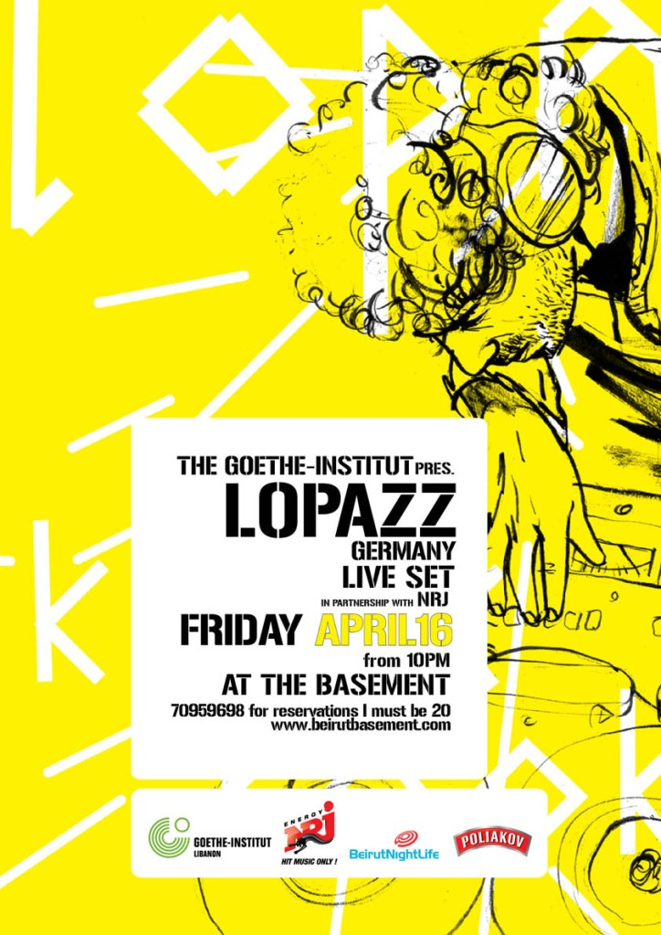 The Goethe Institut pres. LOPAZZ (Get Physical, Berlin) LIVE set at the Basement