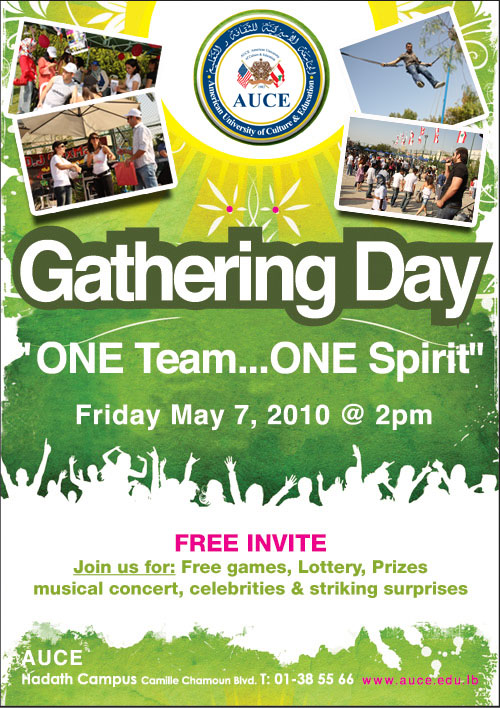 "AUCE Gathering Day ""One Team, One Spirit"""