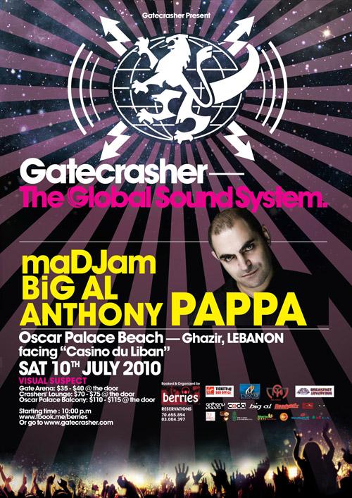 Gatecrasher- Anthony Pappa July 10th