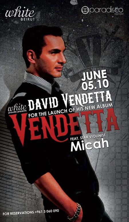 David Vendetta album launch at White!!