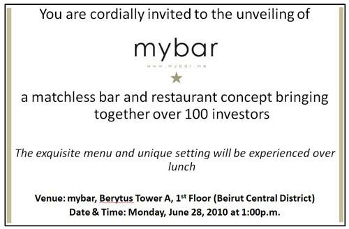 mybar opening